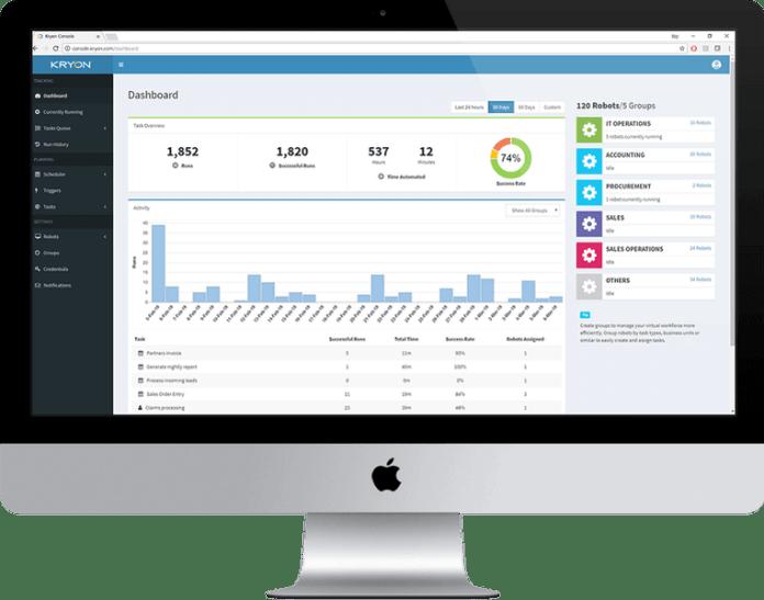 Kryon RPA Platform Dashboard