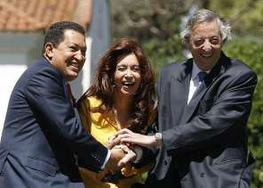 Hugo Chavez Cristina Kirchner Nestor Kirchner