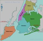 Conocer los cinco boroughs o distritos de Nueva York