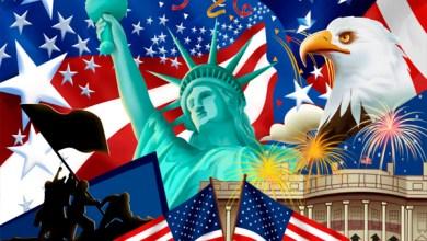 الهجرة-الي-امريكا علم امريكا