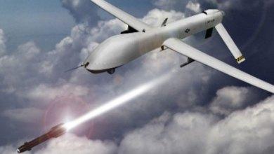 قصف طائرات مسيرة