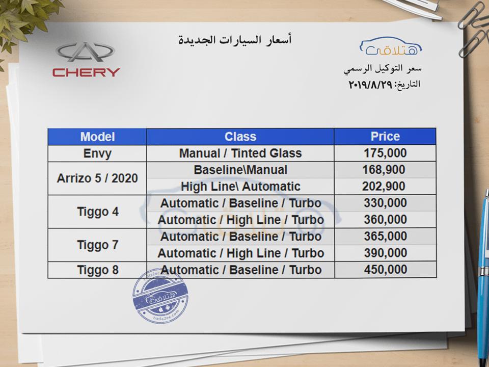 أسعار سيارات اسبيرانزا