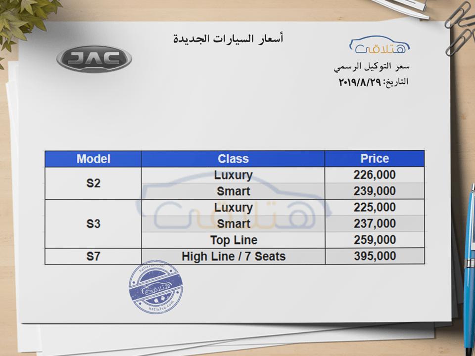 أسعار سيارات جي أي سي