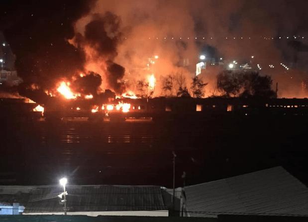 حريق قطار المنيا
