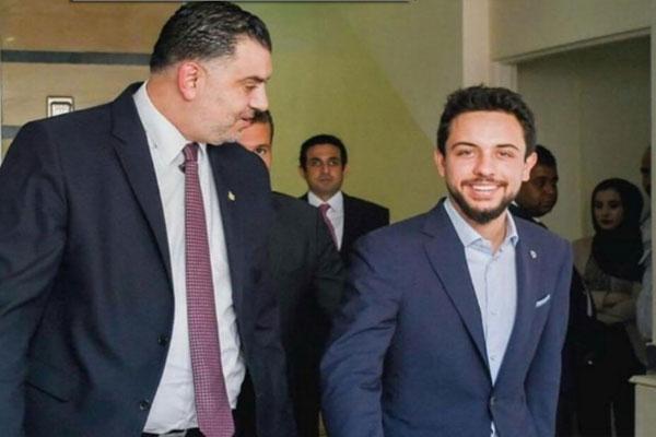 ولي العهد الأردني في زيارة وزارة العمل