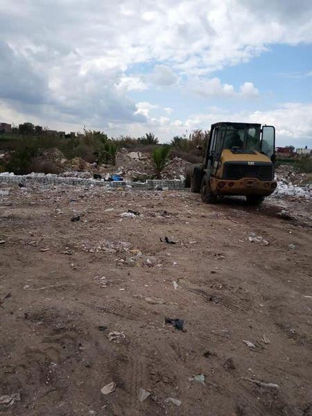 إزالة  ١٢٢ حالة تعدي بالبناء على الأراضي الزراعية بالغربية