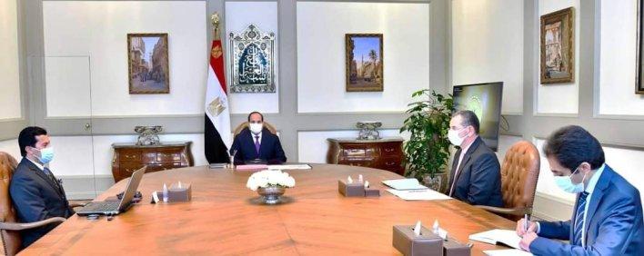 """"""" الرئيس يتابع خطط ومشروعات وزارة الشباب والرياضة على مستوى الجمهورية""""."""