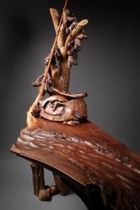 Custom, hand carved, table