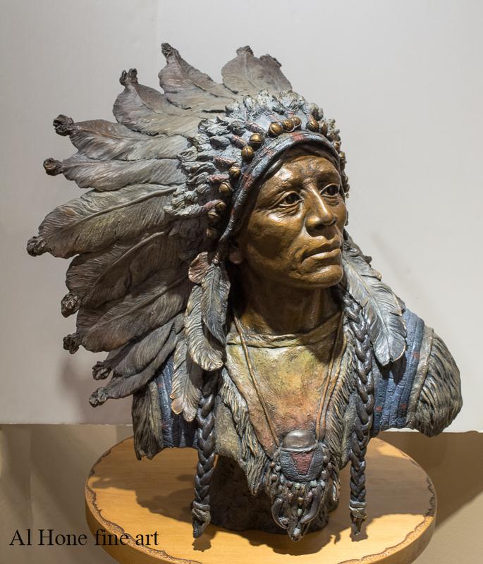 I Walk the Red Road. Sculpture.Native American