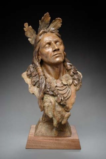 Listen. Native American sculpture