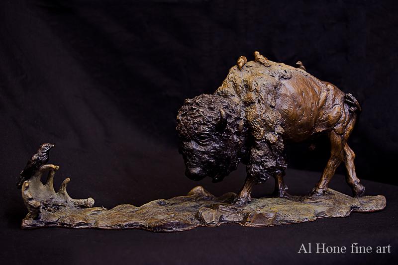 buffalo sculpture, bison sculpture