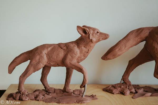 Coyote sculpture