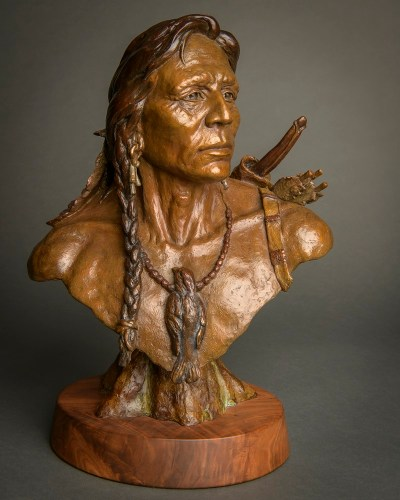 native american bronze sculpture