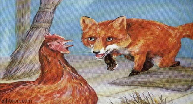 قصة ( الثعلب والدجاجة )