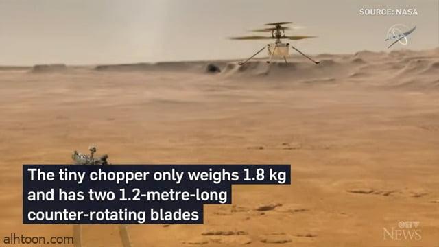شاهد: مركبة تحاول الطيران على المريخ - صحيفة هتون الدولية