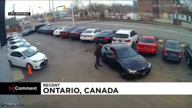 شاهد: سرقة سيارة أمام معرض .. وردة فعل البائع - صحيفة هتون الدولية
