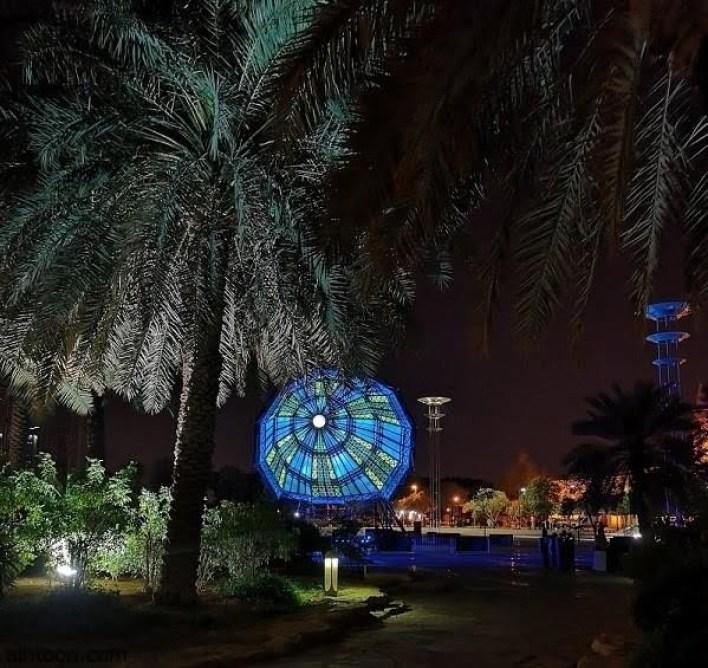 """"""" السحابة الضوئية بالقطع المكافئ"""" تزين سماء الرياض -صحيفة هتون الدولية"""
