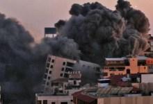 """فيديو: لحظة تدمير مبنى الأوقاف بـ""""غزة"""" - صحيفة هتون الدولية"""