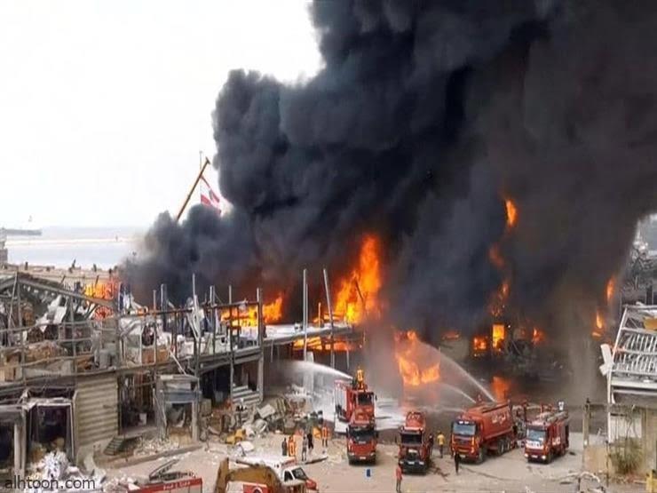 مجدداً .. شاهد: اشتعال النار بمرفأ بيروت - صحيفة هتون الدولية