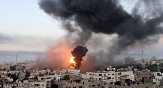 فيديو: اسرائيل تقوم بغارة جوية على غزة - صحيفة هتون الدولية
