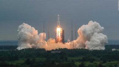 الكشف عن موعد دخول الصاروخ الصيني الغلاف الجوي - صحيفة هتون الدولية