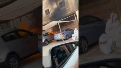شاهد: ردة فعل مواطن وجد سيارة تحترق - صحيفة هتون الدولية