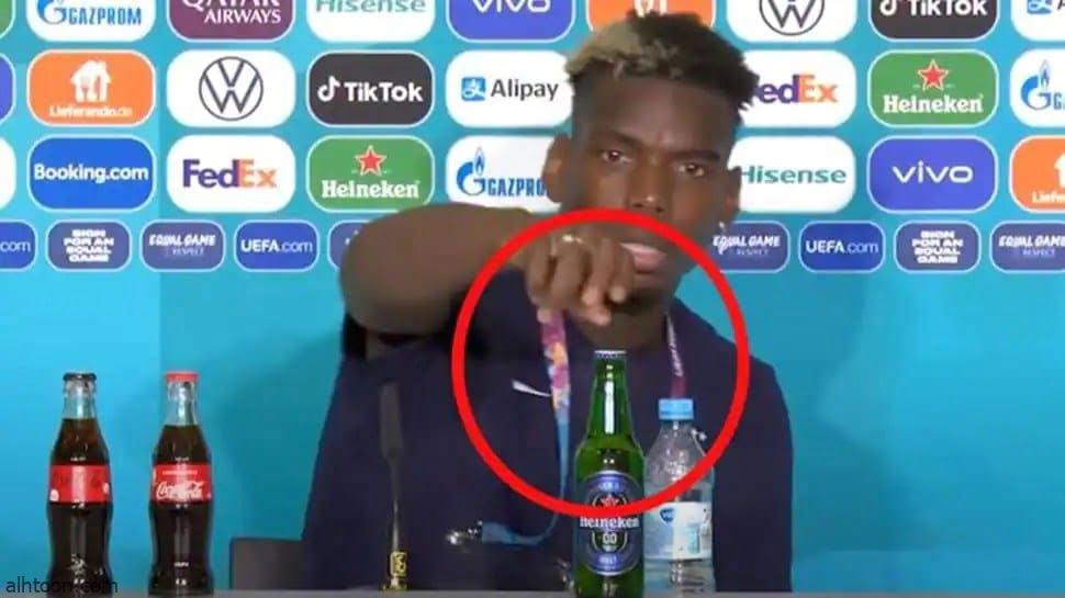 """بعد رونالدو .. بوجبا يطيح بـ""""مشروب كحولي"""" - صحيفة هتون الدولية"""