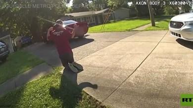 شاهد: لحظة تحرير طفلة من لص خطفها - صحيفة هتون الدولية