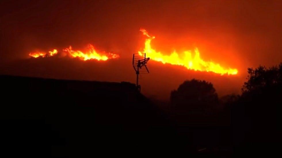 شاهد: حرائق غابات كوستا برافا - صحيفة هتون الدولية