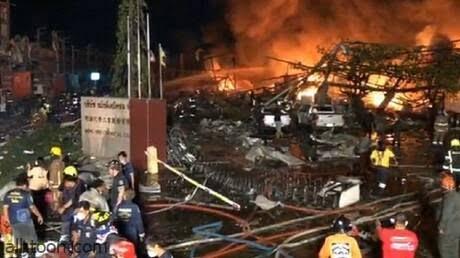 شاهد: انفجار ضخم بمصنع في تايلاند - صحيفة هتون الدولية