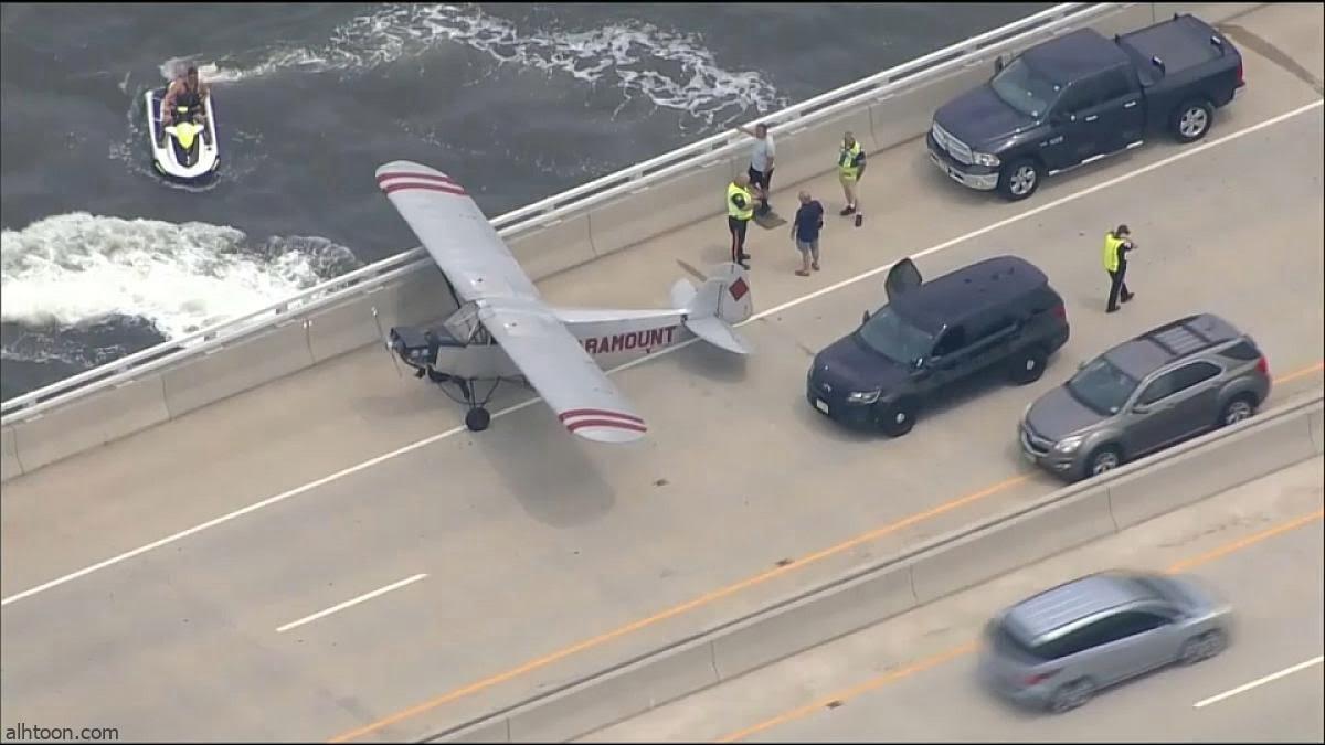 شاهد: طائرة تهبط على جسر - صحيفة هتون الدولية