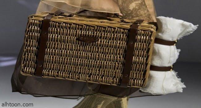 أحدث تصاميم حقائب القش