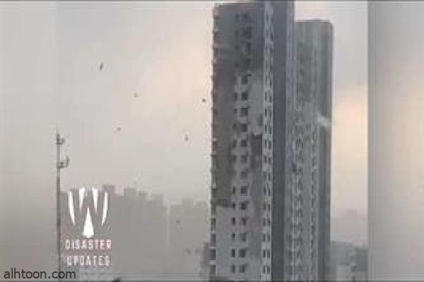 شاهد: تحطم المنازل بسبب اعصار بالصين - صحيفة هتون الدولية
