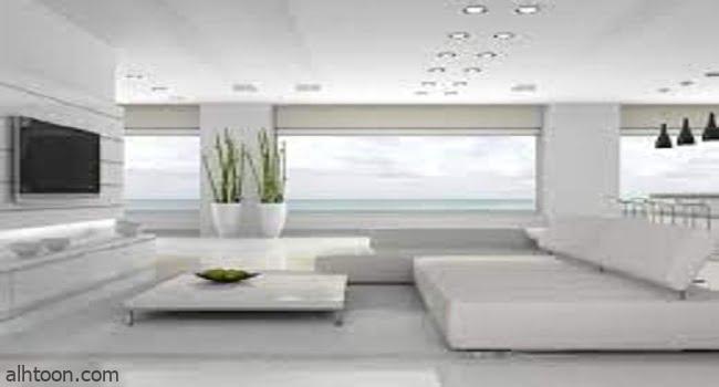 ديكور غرف معيشة لون أبيض ساحرة الجمال -صحيفة هتون الدولية