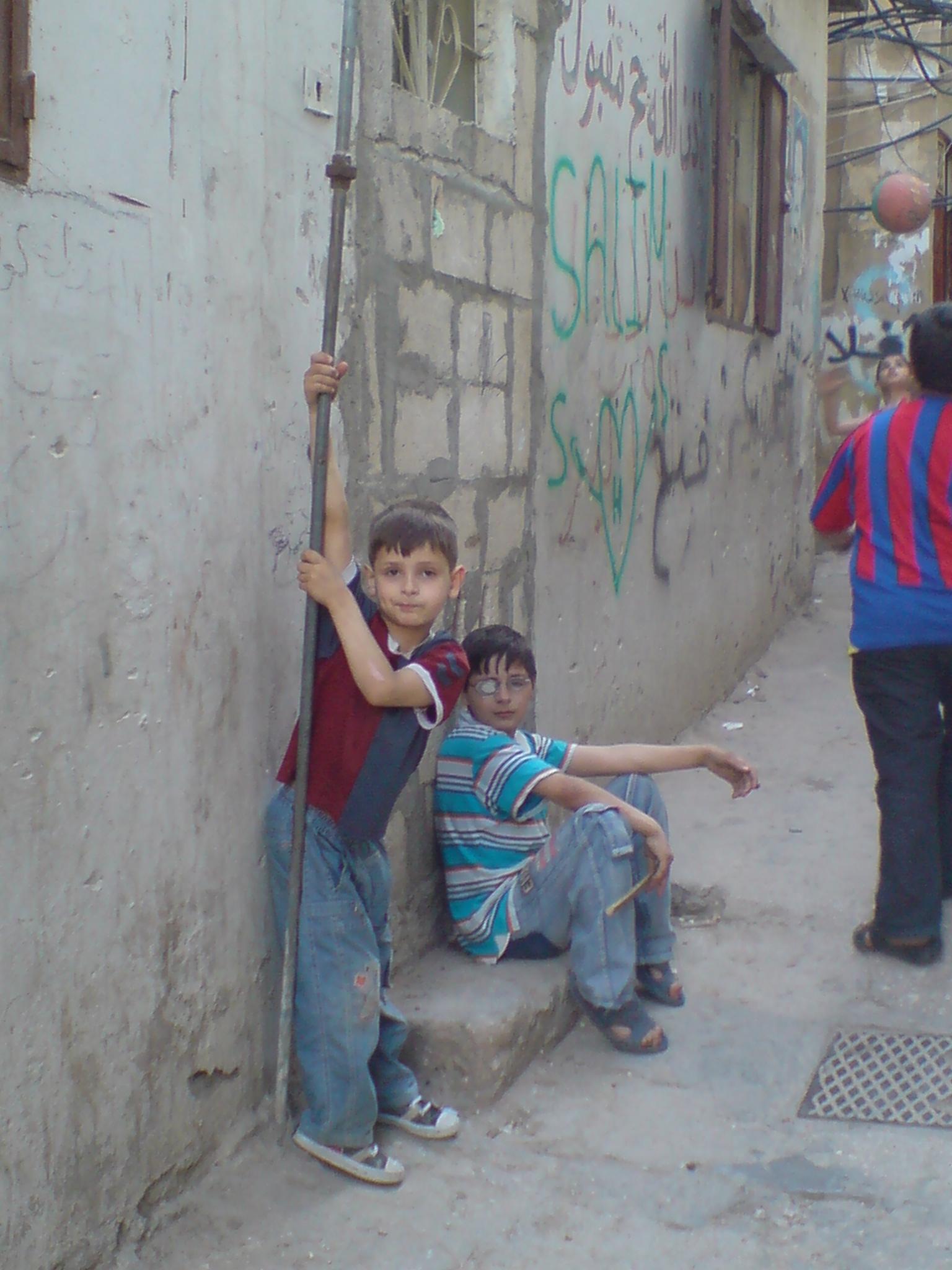 Children in Bourj al-Barajneh refugee camp (Beirut)