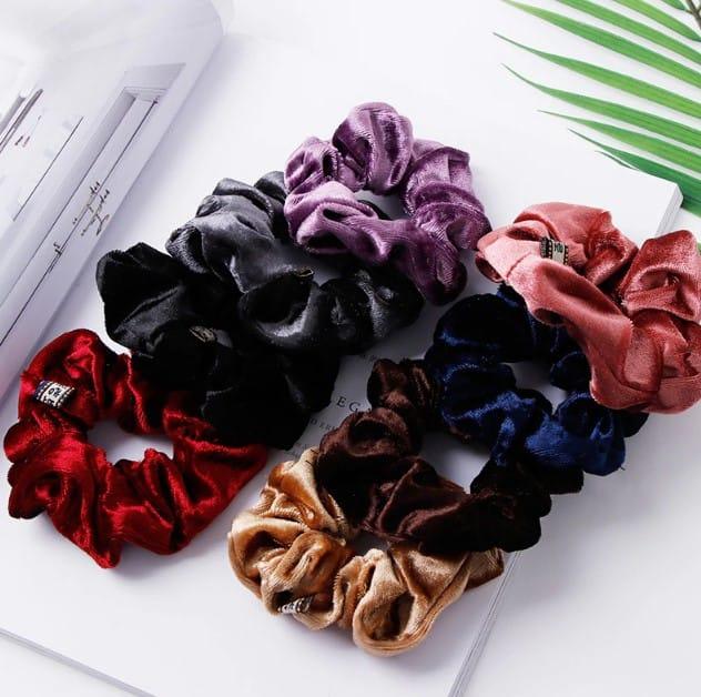elegant-velvet-solid-elastic-hair-bands