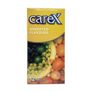 Carex assorted flavours condoms 12 pieces