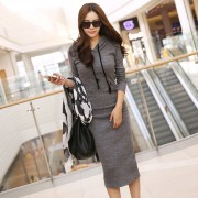 New-2015-Autumn-and-Winter-Women-Floor-Length-Dress-Casual-Hips-Long-Style-Hooded-Dress-Lady5