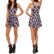 2014-New-Sexy-Women-dress-Cartoon-Adventure-Time-Dress-BRO-BALL-REVERSIBLE-SKATER-DRESS-Pleated-Sun-3