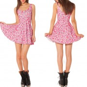 2014-New-Sexy-Women-dress-Cartoon-Adventure-Time-Dress-BRO-BALL-REVERSIBLE-SKATER-DRESS-Pleated-Sun-6