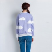 2015-Dongguk-new-clouds-print-fleece-female-loose-round-neck-sweatshirt-for-girls-1-3