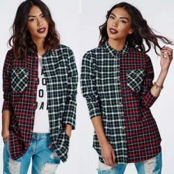 2015-New-Fashion-Womens-Tops-Casual-Blouse-Turndown-Collar-Long-Sleeve-Plaids-Print-Pattern-Flannel-Shirt-1
