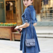 2015-new-fashion-women-denim-dresses-Half-Roll-Sleeve-Long-Denim-Dresses-smoke-banding-denim-dress-4