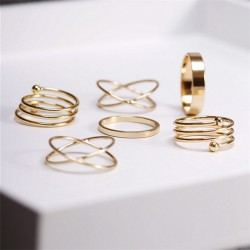 6Pcs-punk-gold-plated-stackable-Knuckle-midi-rings-for-women-Finger-Ring-set-bague-Ring-Set-1