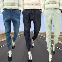 Mens-New-Stylish-Hip-hop-Harem-Blue-Black-Grey-Denim-Beam-Pants-Size-S-to-2XL-1