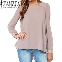 New-Brand-2016-Summer-Style-Women-Blusas-Sexy-Casual-Loose-Chiffon-Tops-Long-Sleeve-Solid-Shirts-1