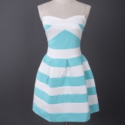 New-Summer-Fashion-Sexy-Strapless-Vestidos-Striped-Pleated-Bubble-Mini-Party-Dress-Off-Shoulder-Women-s-4