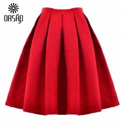 OASAP-2015-Wholesale-High-Waist-Saia-Midi-Puff-Skirt-Women-Long-Summer-Style-Skirt-Europe-America-1