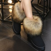 Size-35-40-Russia-Winter-Warm-Thickened-Fur-Women-Flat-Half-Short-Ankle-Snow-Boots-Plush-2