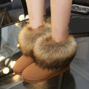 Size-35-40-Russia-Winter-Warm-Thickened-Fur-Women-Flat-Half-Short-Ankle-Snow-Boots-Plush-4